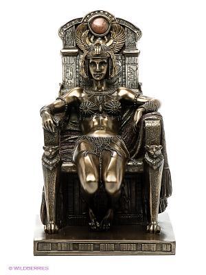 Статуэтка Клеопатра на троне Veronese. Цвет: коричневый