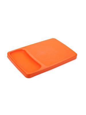 Доска разделочная с лотком Kleo (мандарин) Berossi. Цвет: оранжевый