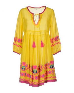 Короткое платье CHRISTOPHE SAUVAT. Цвет: желтый