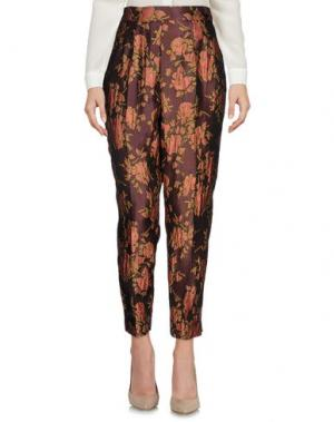 Повседневные брюки MARIAGRAZIA PANIZZI. Цвет: баклажанный