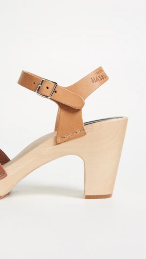 Kringlan Block Heel Sandals Swedish Hasbeens