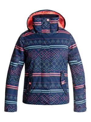 Куртка сноубордическая ROXY. Цвет: фиолетовый, коралловый, светло-серый