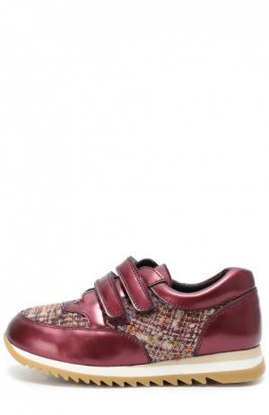 Комбинированные кроссовки на рифленой подошве Clarys. Цвет: бордовый