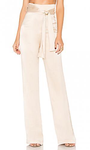 Шелковые брюки flavanor Misha Collection. Цвет: беж