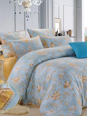 Комплект постельного белья, Лия, 1.5 спальный KAZANOV.A.. Цвет: голубой