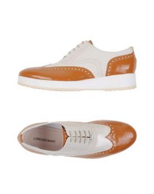 Обувь на шнурках LORENZO MARI. Цвет: коричневый