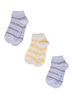 Носки Детские,комплект 3шт Malerba. Цвет: серый, желтый