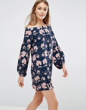 Keepsake Платье с цветочным принтом пейсли. Цвет: мульти