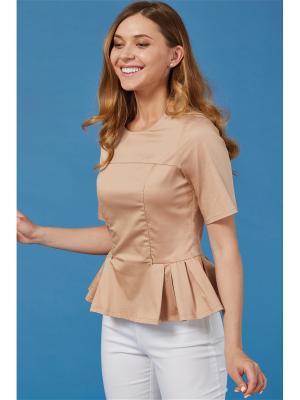 Блузка для кормящих мам MilkyMama. Цвет: бежевый