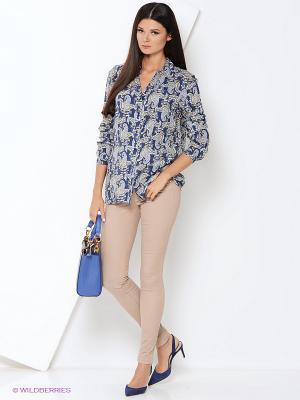 Блузка Vis-a-vis. Цвет: темно-синий, голубой