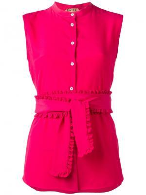 Рубашка без рукавов Nº21. Цвет: розовый и фиолетовый