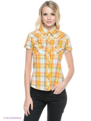Рубашка Mavango. Цвет: оранжевый, желтый