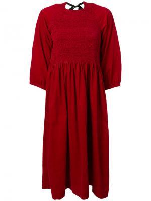 Платье Rosamanda Molly Goddard. Цвет: красный