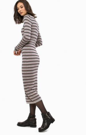 Длинное трикотажное платье в полоску Patrizia Pepe. Цвет: полоска