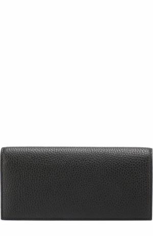 Кожаный бумажник с отделениями для кредитных карт и монет Canali. Цвет: черный