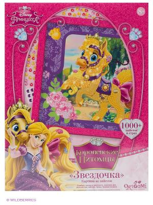 Palace pets Картина из пайеток Звездочка Чудо-творчество. Цвет: фиолетовый, розовый, желтый