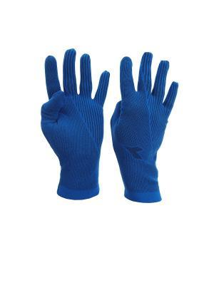 Перчатки DIADORA. Цвет: синий