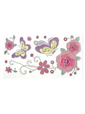 Наклейка интерьерная Eleon. Цвет: сиреневый, розовый, желтый