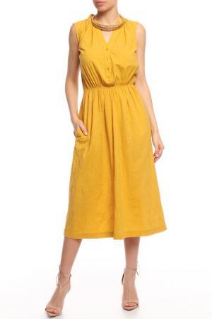 Платье BGN. Цвет: bauers yellow, желтый