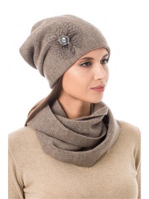 Комплект (шапка, снуд) Stilla s.r.l.. Цвет: коричневый