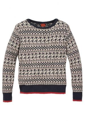 Пуловер Colors for Life. Цвет: с рисунком/синий