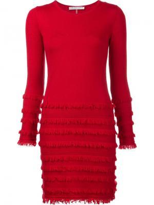 Трикотажное платье Sass Trina Turk. Цвет: красный