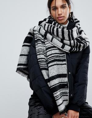 Pieces Длинный шарф-накидка в полоску Jessica. Цвет: мульти