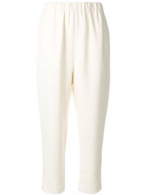 Укороченные брюки с эластичнойталией Enföld. Цвет: белый