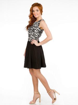 Платье VENUSITA. Цвет: черный, белый
