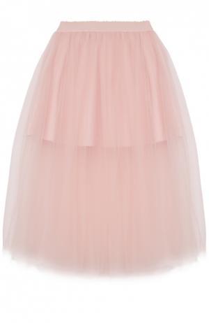 Пышная юбка-миди Monnalisa. Цвет: розовый