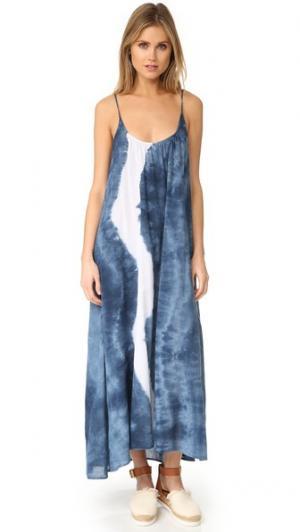 Макси-платье Tulum 9seed. Цвет: звездная пыль в технике узелкового батика