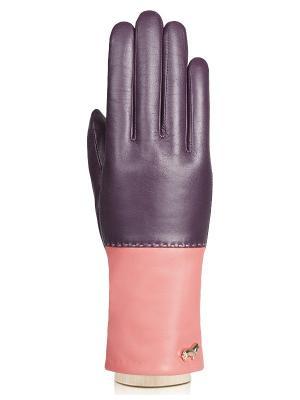 Перчатки Labbra. Цвет: темно-фиолетовый, коралловый