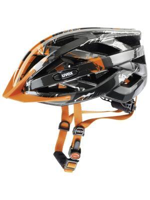 Шлем Uvex. Цвет: серебристый, оранжевый