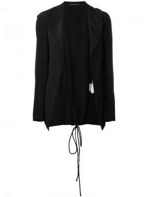 Пиджак со шнуровкой Yohji Yamamoto Vintage. Цвет: чёрный