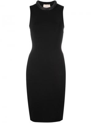 Облегающее платье с украшением из кристаллов Swarovski Christopher Kane. Цвет: чёрный