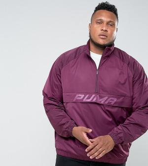 Puma Фиолетовая спортивная куртка с молнией до груди PLUS эксклюзивно. Цвет: фиолетовый