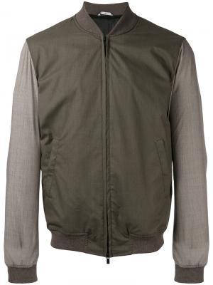 Куртка-бомбер на молнии Hevo. Цвет: зелёный