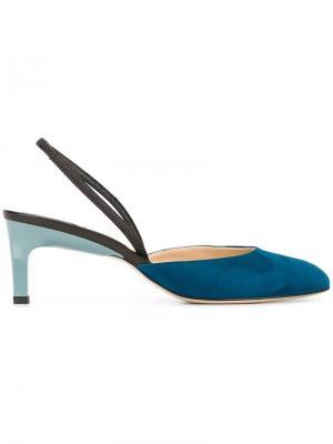 Туфли с ремешком на пятке Paul Andrew. Цвет: синий