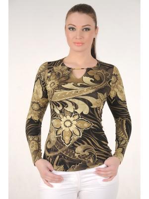 Блузка MONO collection. Цвет: хаки, бежевый, оливковый