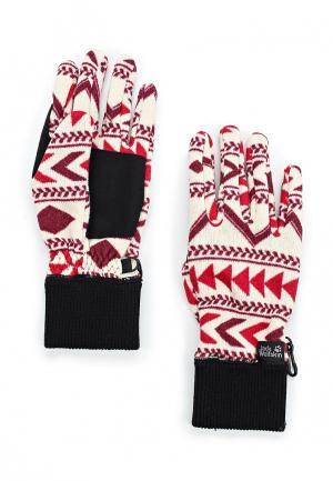 Перчатки Jack Wolfskin. Цвет: белый