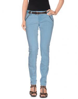 Джинсовые брюки MET & FRIENDS. Цвет: небесно-голубой