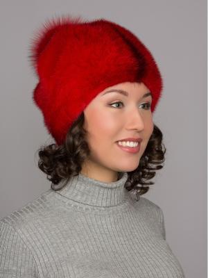 Шапка Slava Furs. Цвет: красный