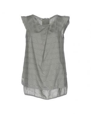 Блузка LA FABBRICA del LINO. Цвет: серый