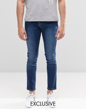 Brooklyn Supply Co. Выбеленные зауженные джинсы Co Dumbo. Цвет: синий