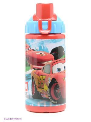Бутылка спортивная с соломинкой Тачки Stor. Цвет: красный, голубой