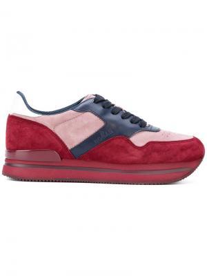 Кроссовки на платформе Hogan. Цвет: красный