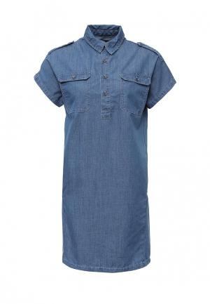 Платье джинсовое Incity. Цвет: синий