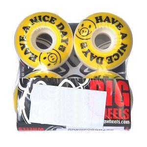 Колеса для скейтборда  Nice Day Yellow 101A 53 mm Pig. Цвет: белый,желтый,черный