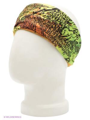Бандана Buff. Цвет: салатовый, светло-оранжевый