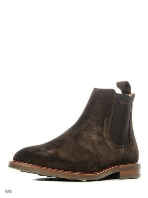 Ботинки GANT. Цвет: темно-коричневый